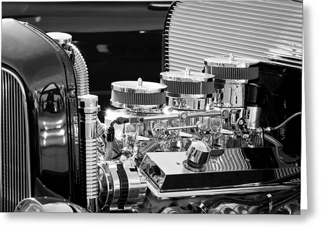 Hot Rod Engine Greeting Card