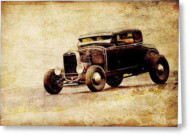 Hot Rod Ford Greeting Card by Steve McKinzie