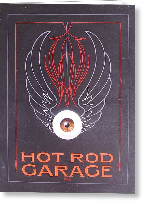 Hot Rod Garage Greeting Card
