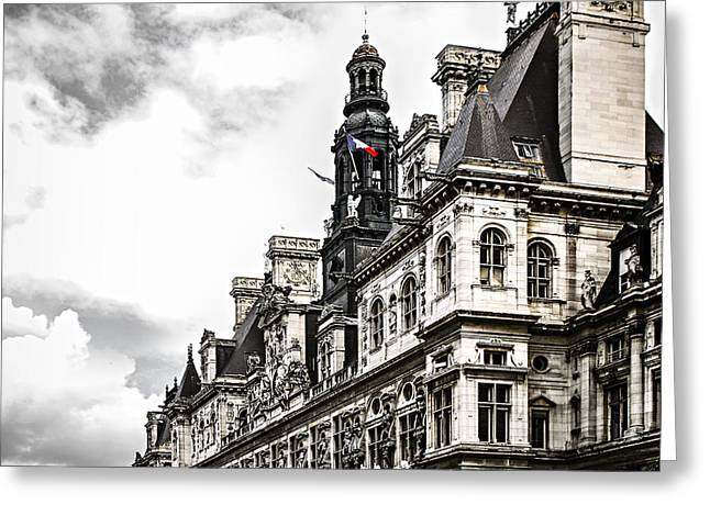 Hotel De Ville In Paris Greeting Card