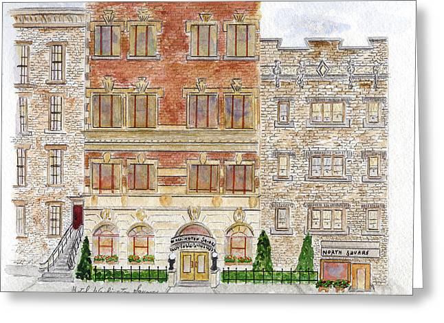 Hotel Washington Square Greeting Card