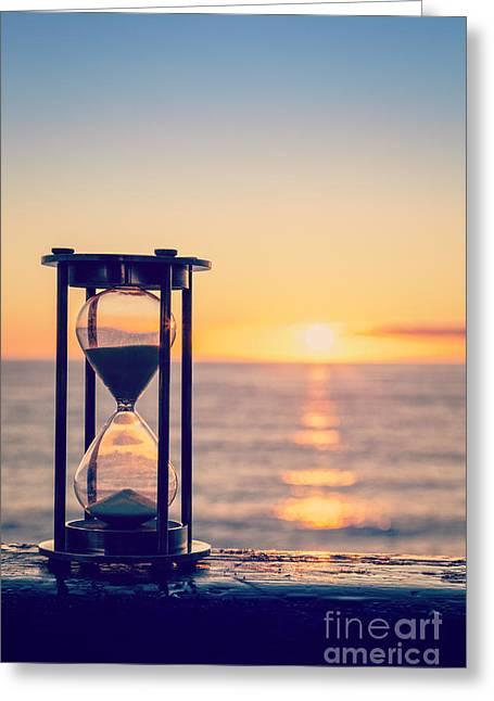 Hourglass Sunrise Greeting Card