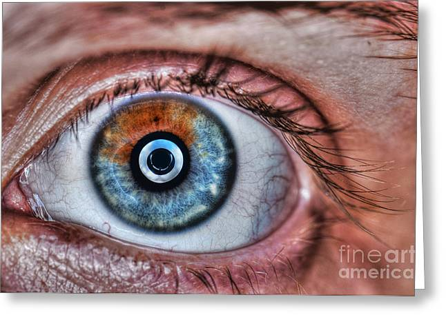 Human Eye Greeting Card by Guy Viner
