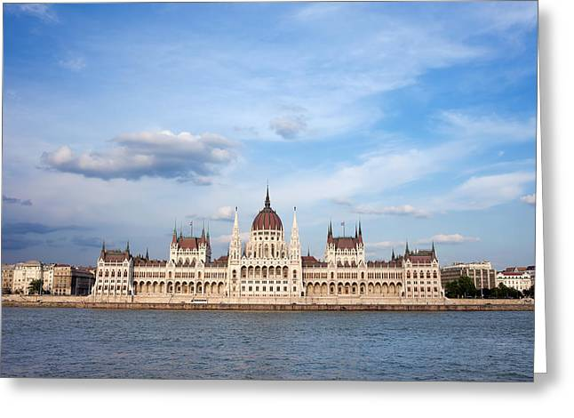 Hungarian Parliament Building In Budapest Greeting Card by Artur Bogacki