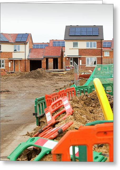 Hutton Rise Housing Development Greeting Card