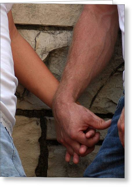 Greeting Card featuring the photograph I Wanna Hold Your Hand by Lesa Fine