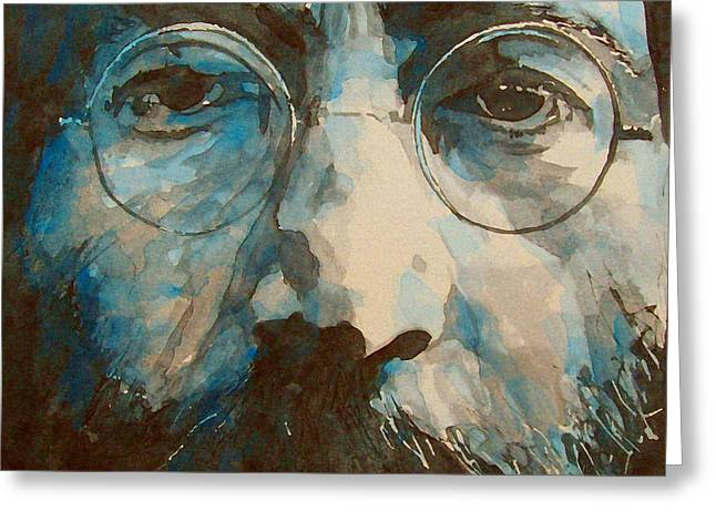 John Lennon Art Greeting Cards - I was the Dreamweaver Greeting Card by Paul Lovering