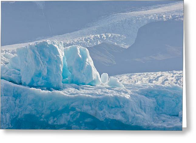 Icebergs At The Jokulsarlon Glacial Greeting Card