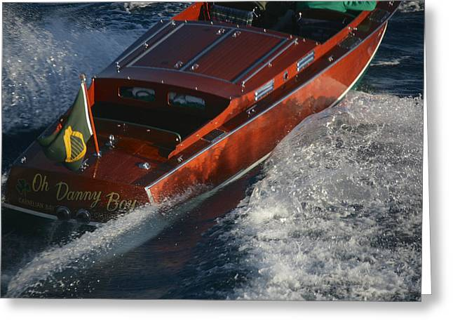 Iconic Chris Craft Greeting Card by Steven Lapkin