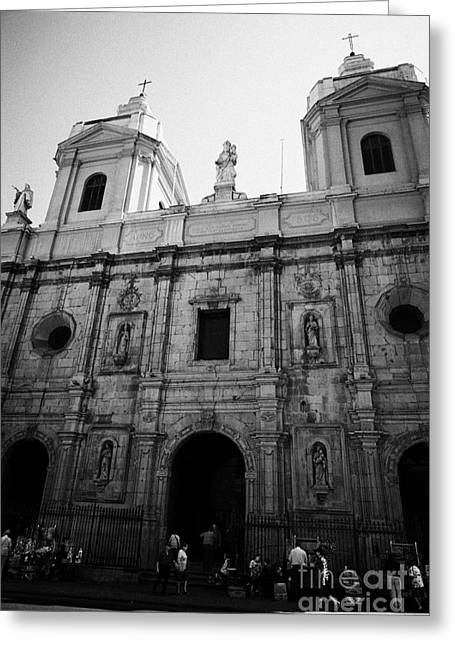 Iglesia De Santo Domingo Santiago Chile Greeting Card by Joe Fox
