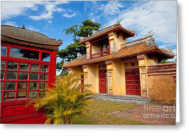 Imperial City Of Hue Vietnam Greeting Card by Fototrav Print