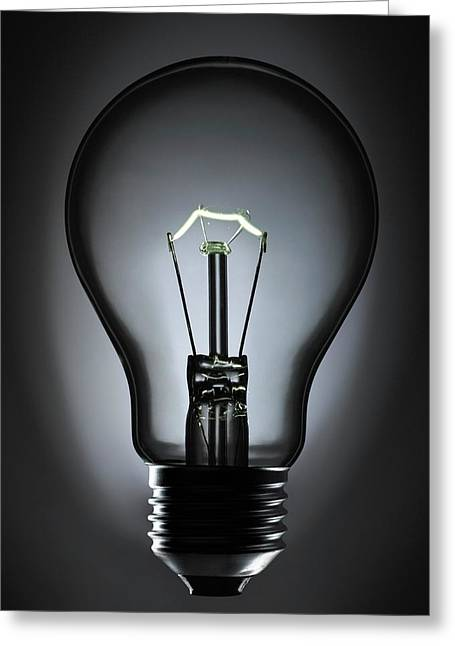 Incandescent Light Bulb Greeting Card