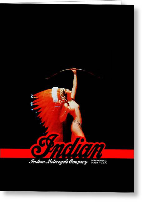 Indian Motorcycle Phone Case Greeting Card by Mark Rogan