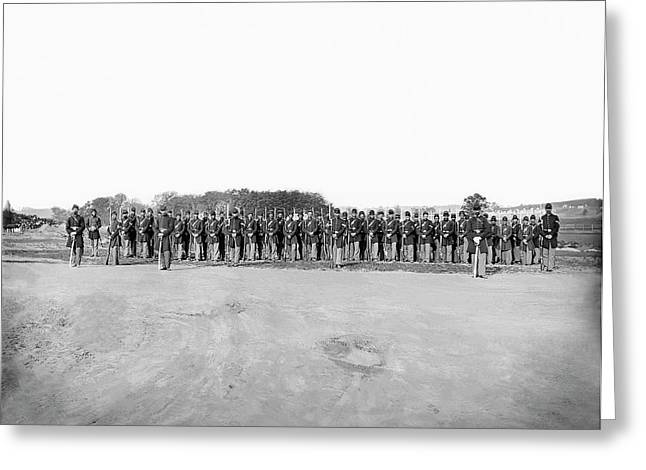 Infantry On Parade During American Greeting Card
