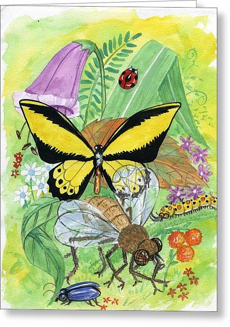 Insects Greeting Card by Charles Dey
