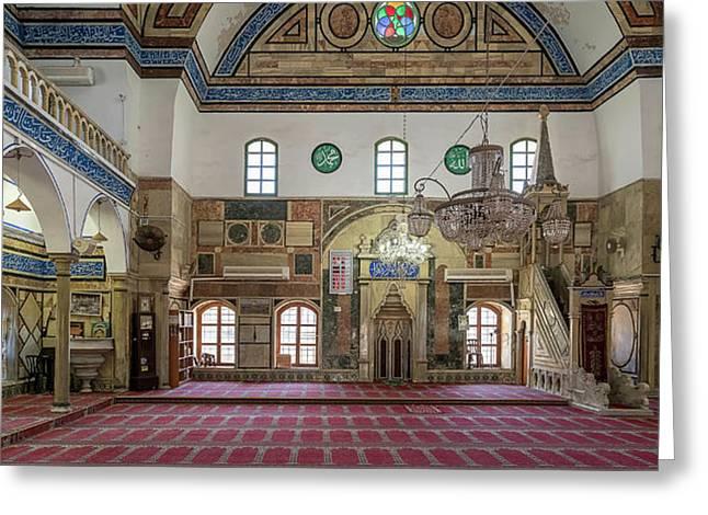 Interiors Of A Mosque, El-jazzar Greeting Card