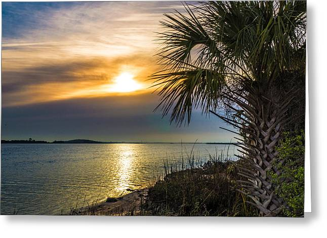 Greeting Card featuring the photograph Intracoastal Sunrise by Frank Bright