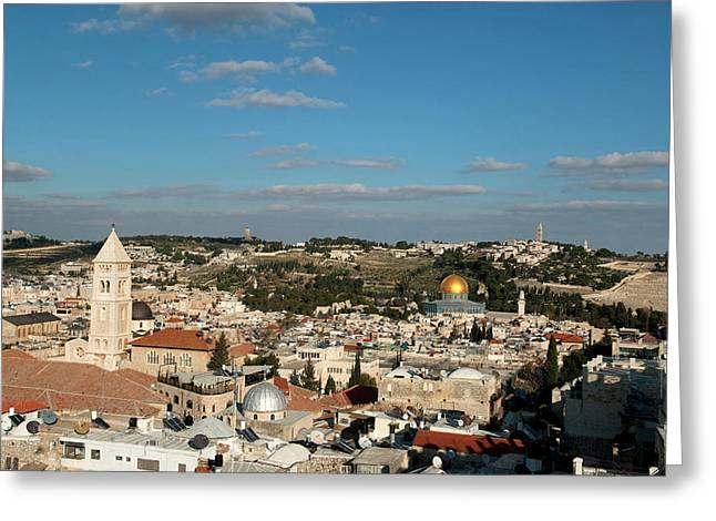 Israel, Jerusalem Greeting Card by David Noyes