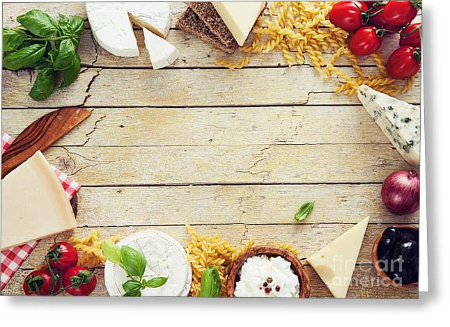 Italian Cooking Greeting Card by Mythja  Photography