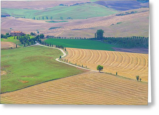 Italy, Tuscany, Pienza Greeting Card by Jaynes Gallery