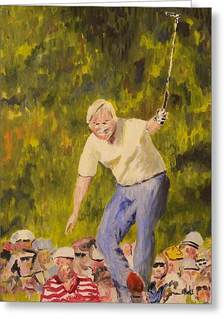 Jack At The Masters Greeting Card