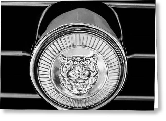 Jaguar Grille Emblem Greeting Card by Jill Reger