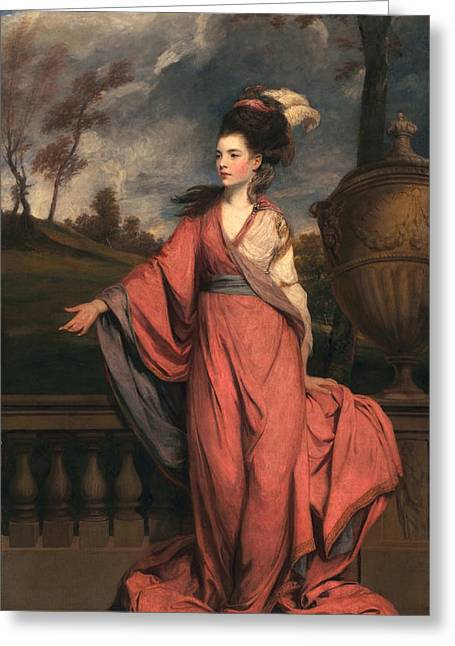 Jane Fleming, Later Countess Greeting Card by Sir Joshua Reynolds