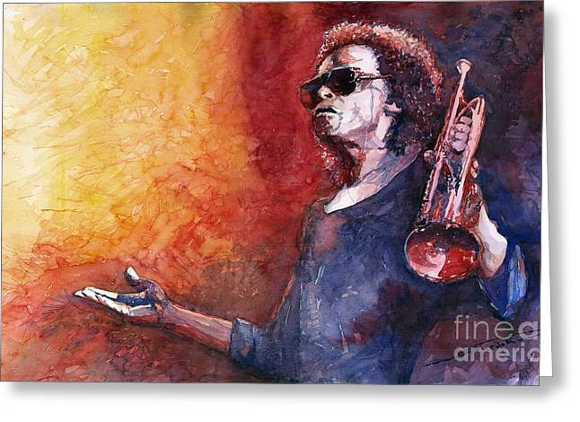 Jazz Miles Davis Greeting Card by Yuriy Shevchuk