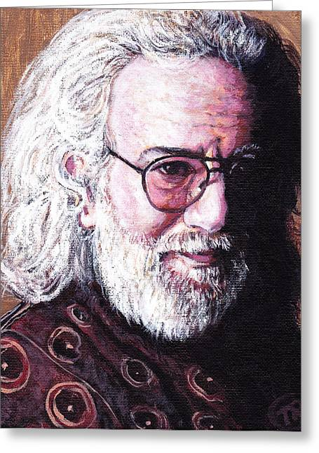 Jerry Garcia Greeting Card by Tom Roderick