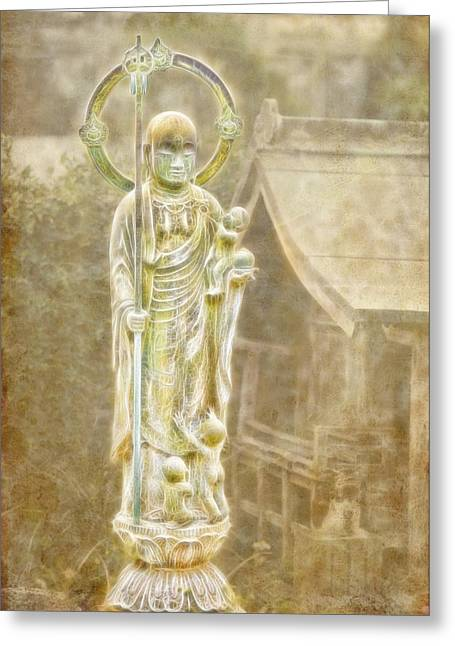 Jizo Greeting Card by Karen Walzer