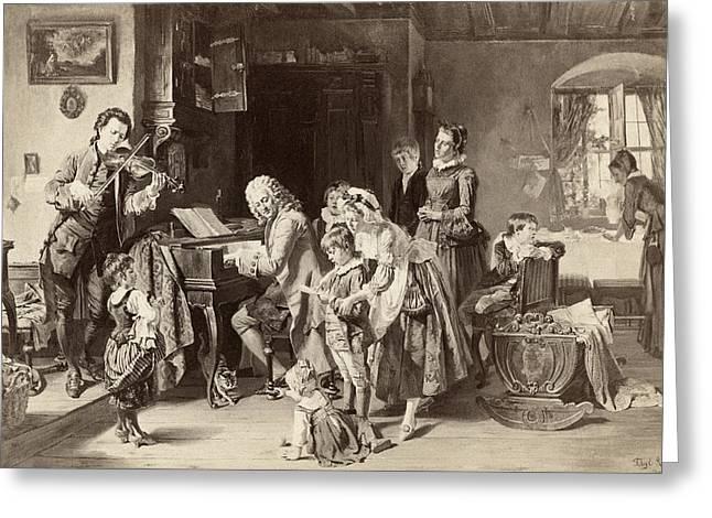 Johann Sebastian Bach (1685-1750) Greeting Card by Granger