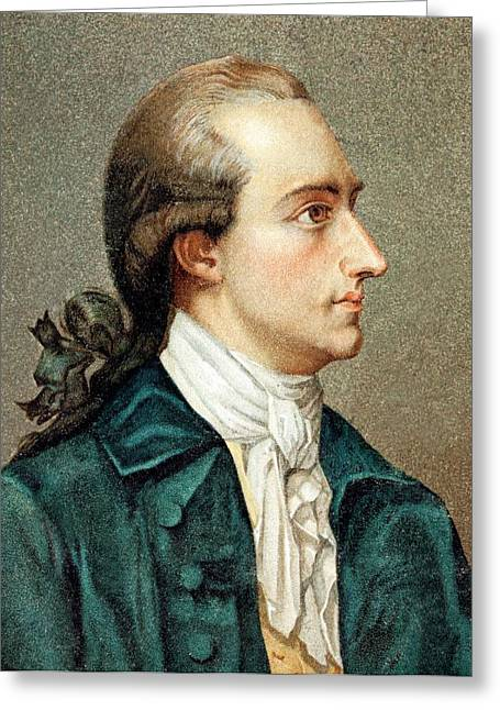 Johann Von Goethe Greeting Card