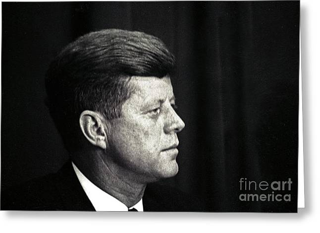 John F. Kennedy, 1963 Greeting Card by Larry Mulvehill
