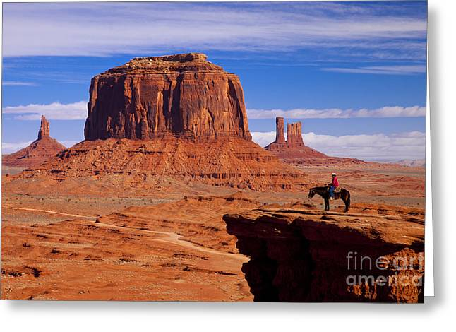 John Ford Point Monument Valley Greeting Card