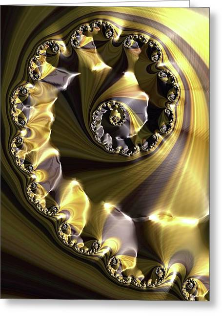 Julia Fractal Greeting Card