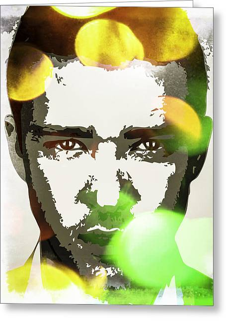 Justin Timberlake Greeting Card by Svelby Art
