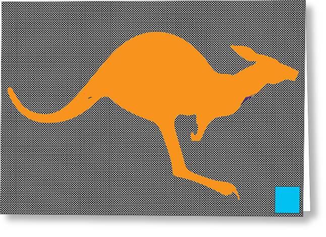 Kangaroo Greeting Card by Manik