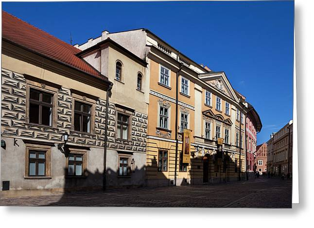 Kanonicza Street And The Archdiocese Greeting Card