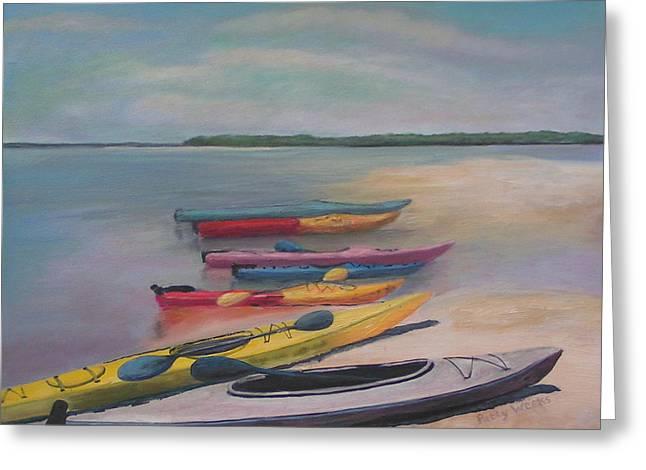 Kayaking Trip Greeting Card