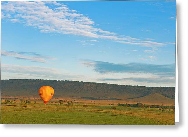 Kenya, Maasai Mara, Hot Air Ballooning Greeting Card