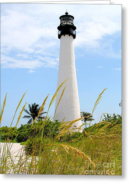 Key Biscayne Lighthouse Greeting Card by Carey Chen