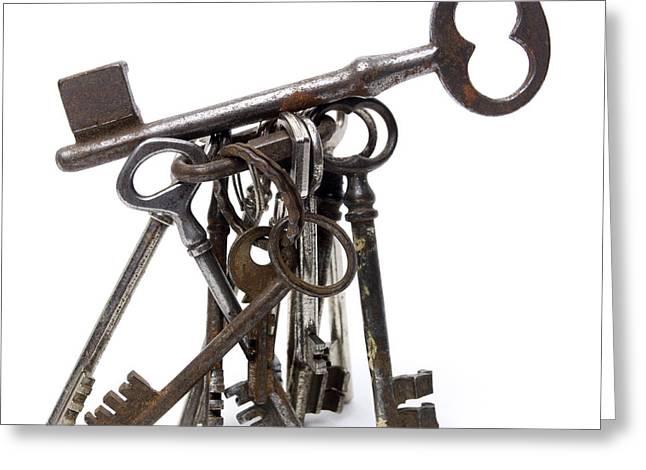 Keys Greeting Card by Bernard Jaubert