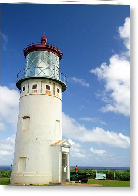 Kilauea Lighthouse Located On Kilauea Greeting Card
