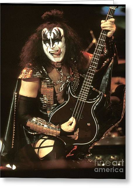 Kiss Greeting Card by Concert Photos