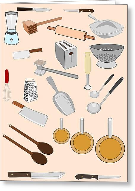 Kitchen Tools Greeting Card