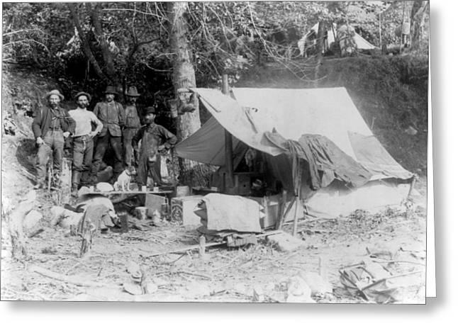 Klondike Gold Rush Campsite, 1897 Greeting Card