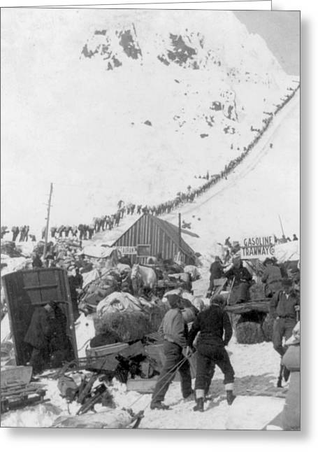Klondike Gold Rush, Chilcoot Pass, 1898 Greeting Card