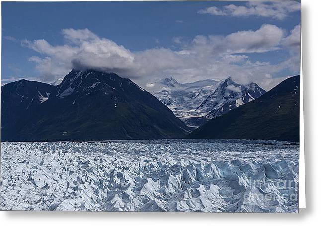 Knik Glacier Alaska Greeting Card