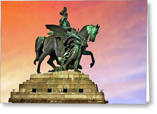 Koblenz, Germany, The Monument Greeting Card by Miva Stock