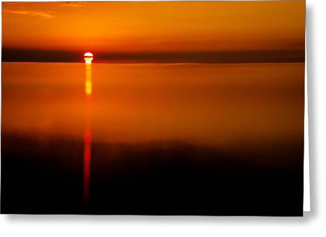Kona Sunset Series Greeting Card by Josh Whalen